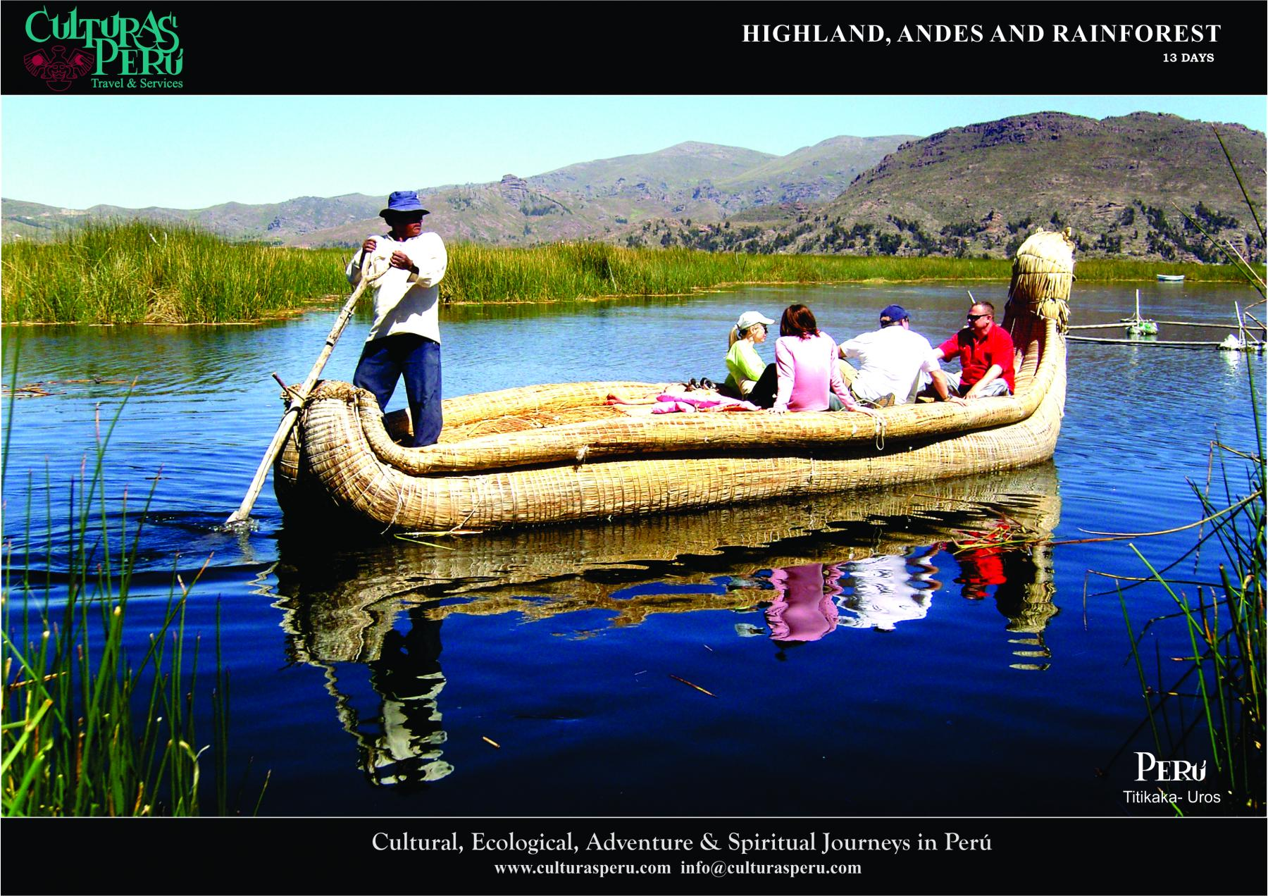 Day 3: Lake Titicaca - Floating Uros islands and Amantani Island