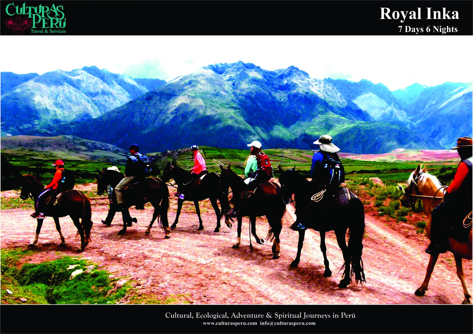 Day 4: Sacred Valley of The Incas (Inca terraces of Moray & Maras salt pans, riding Peruvian Paso horses)